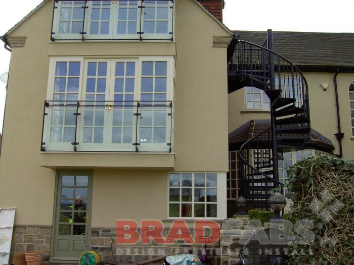 Steel fabricators of balconies staircases steel for Traditional balconies